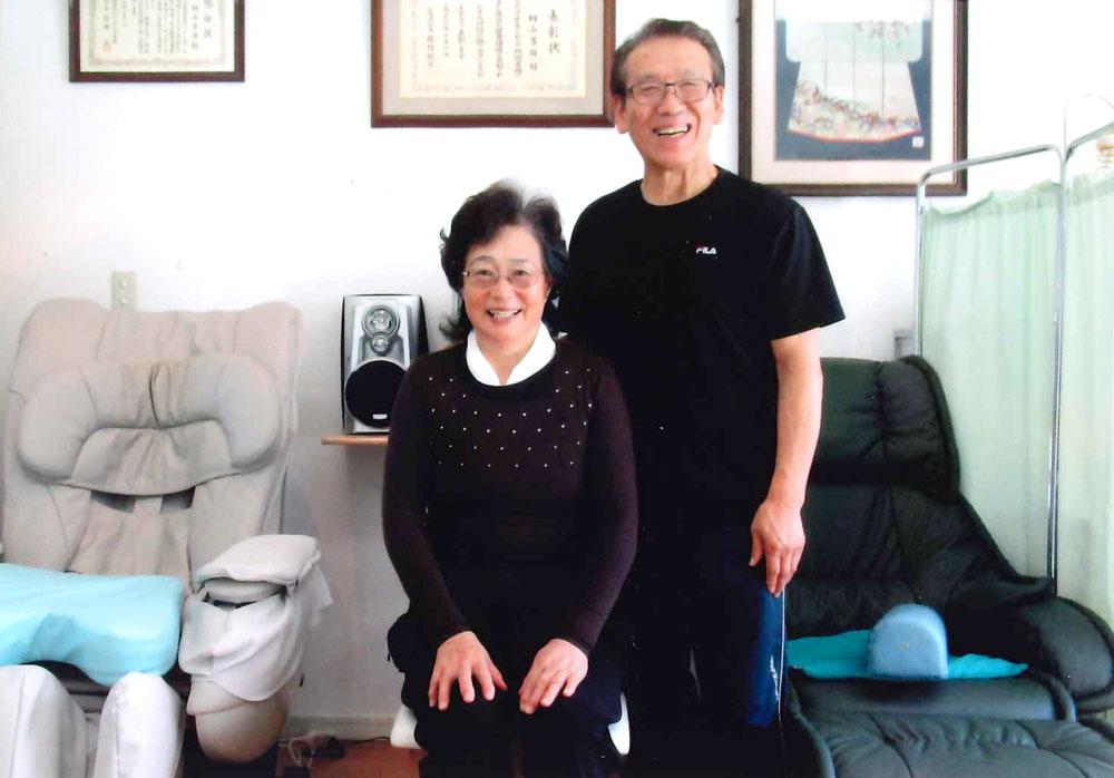 写真:O.Tさんと籾山先生